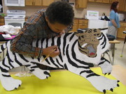 finishing touches on the tiger