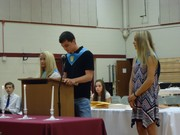 Induction Ceremony . Levi